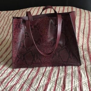 Banana Republic Leather Animal Print Tote
